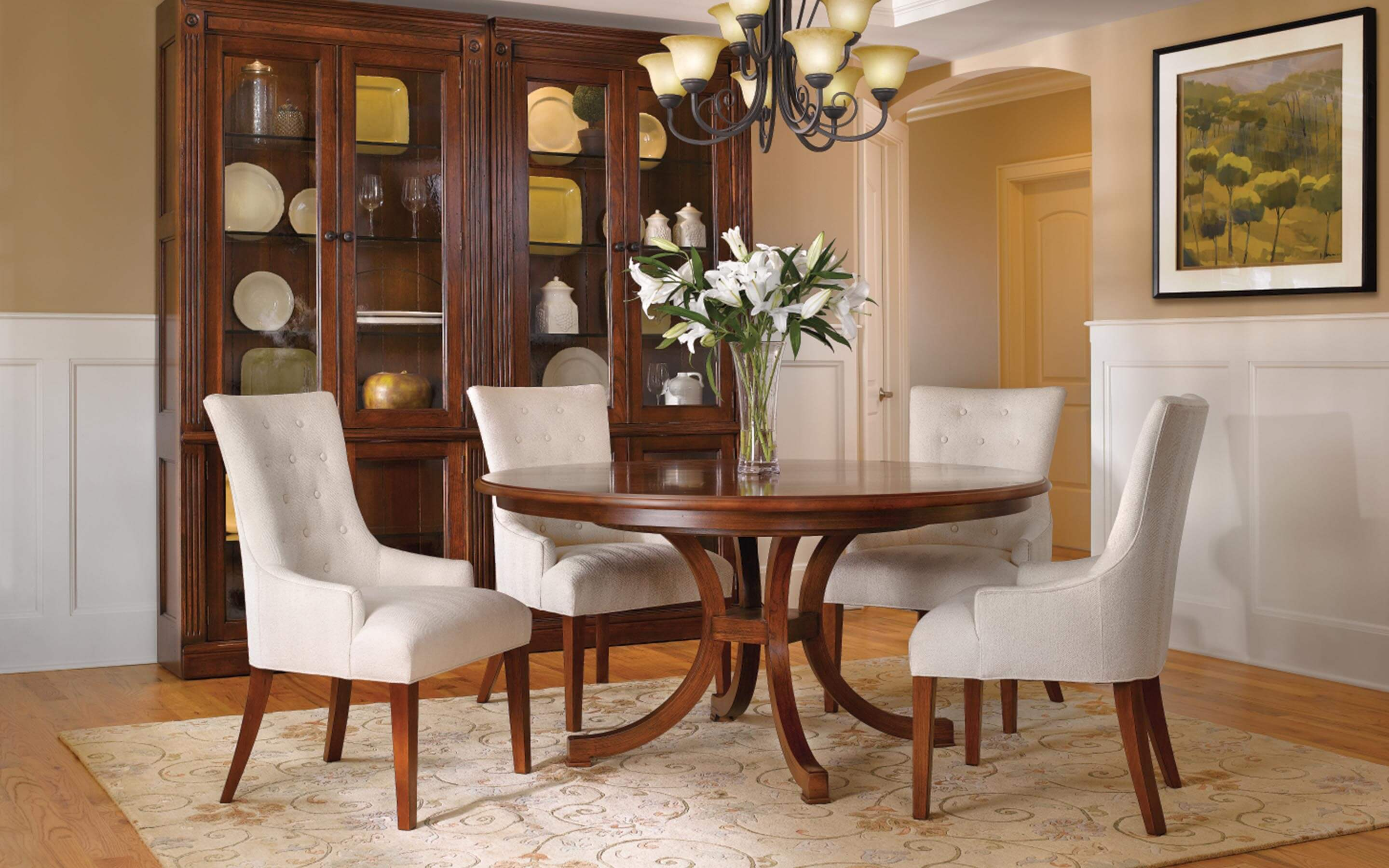 Image of dining room set from Reid's furnishing.
