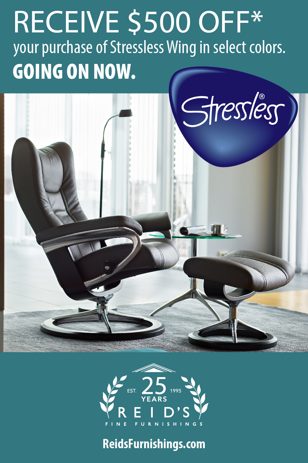 500 OFF Stressless Wing Sale