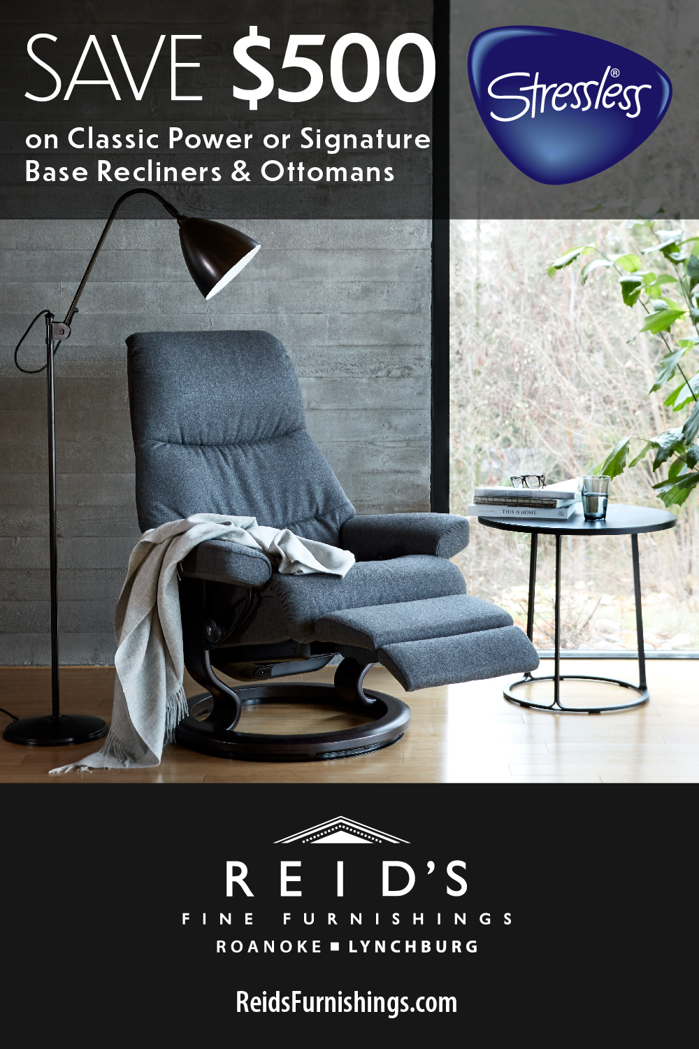$500 OFF Classic Power, Base Recliners & Ottomans
