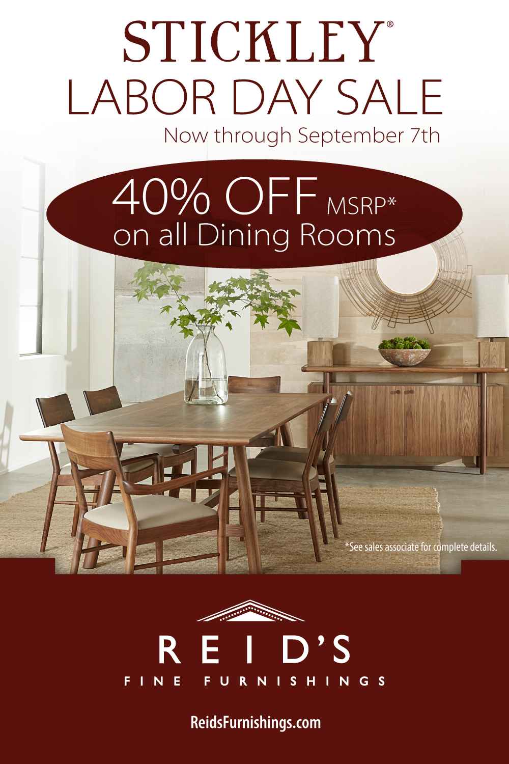 Stickley Labor Day Sale