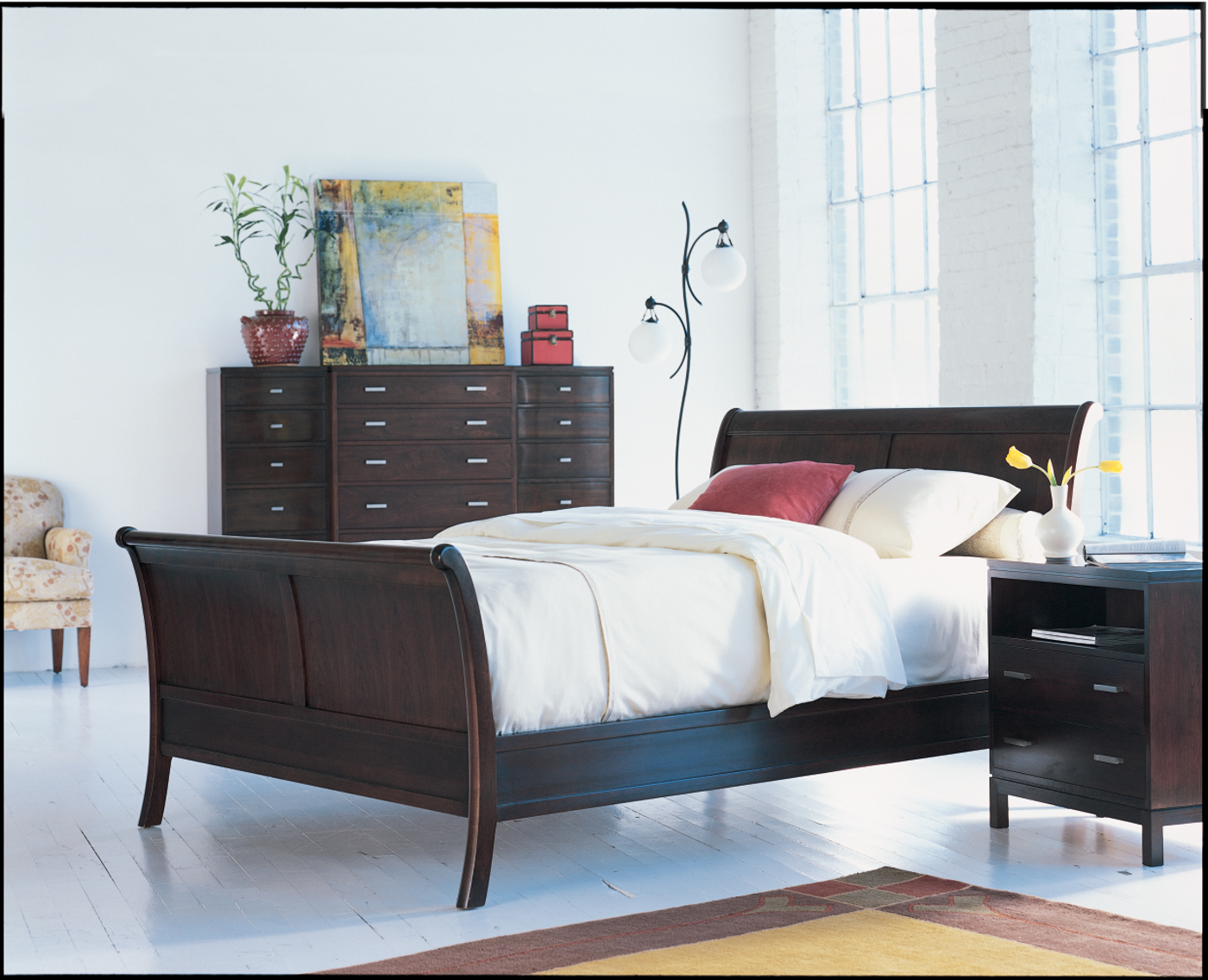 Inspiration gallery reid 39 s fine furnishings for Bedroom designs with sleigh beds